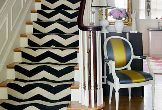 Liz Caan Chevron Stair Runner