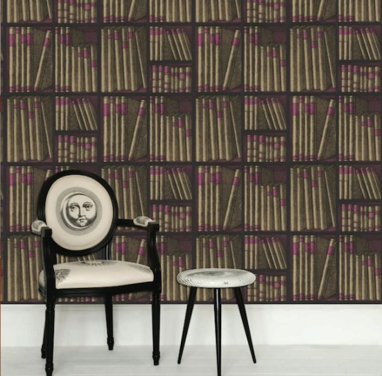 Cole and Son Fornasetti Ex Libris Book Wallpaper