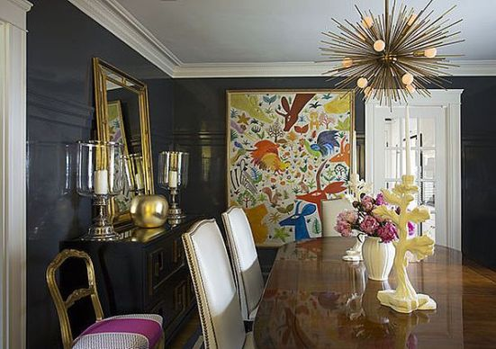 Liz Caan's Dining Room | via Interiors For Families