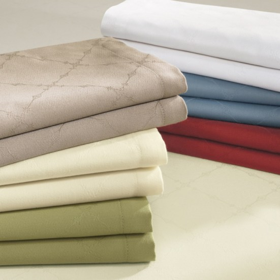 Sferra Juliet Easy-Care Table Linens | via Interiors For Families