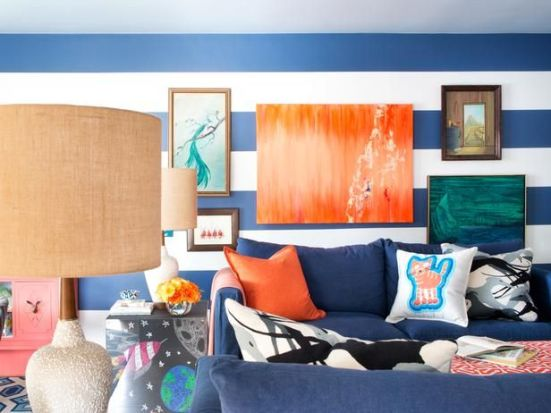 Brian Patrick Flynn's Big, Bold Art | via Interiors For Families