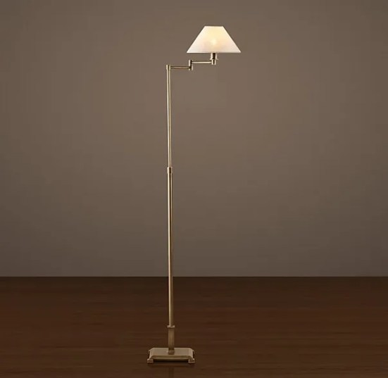 Restoration Hardware Petite Candlestick Swing-Arm Floor Lamp