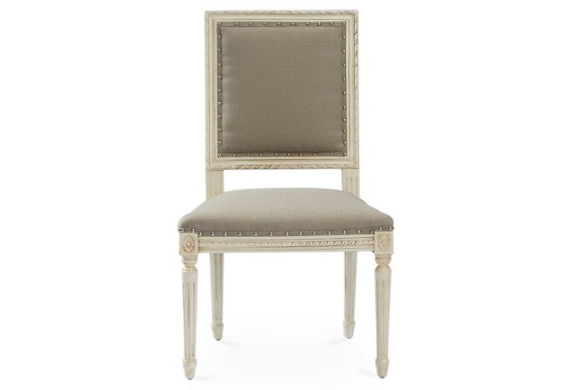 Friday Family-Friendly Find: OKL Exeter Side Chair in Smoke Crypton | Interiors for Families