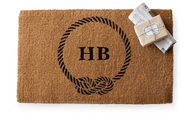 Friday Family-Friendly Find: Mark & Graham Personalized Doormats | Interiors for Families | Blog of Kelly Rogers Interiors