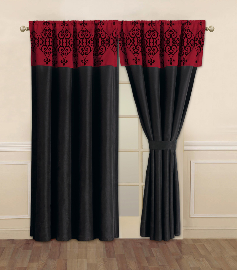 Black And Red Curtains For Bedroom Novocom Top