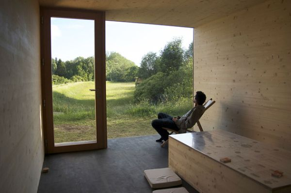 Ekologiško mažo namelio Prancūzijoje interjeras