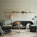 Textured tribal living room