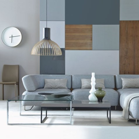 Sophisticated grey living room