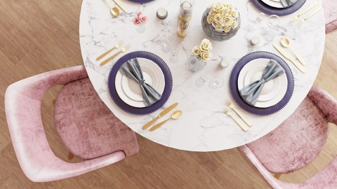 Pink Luscious - Table & Chairs - By Irina Lucaci