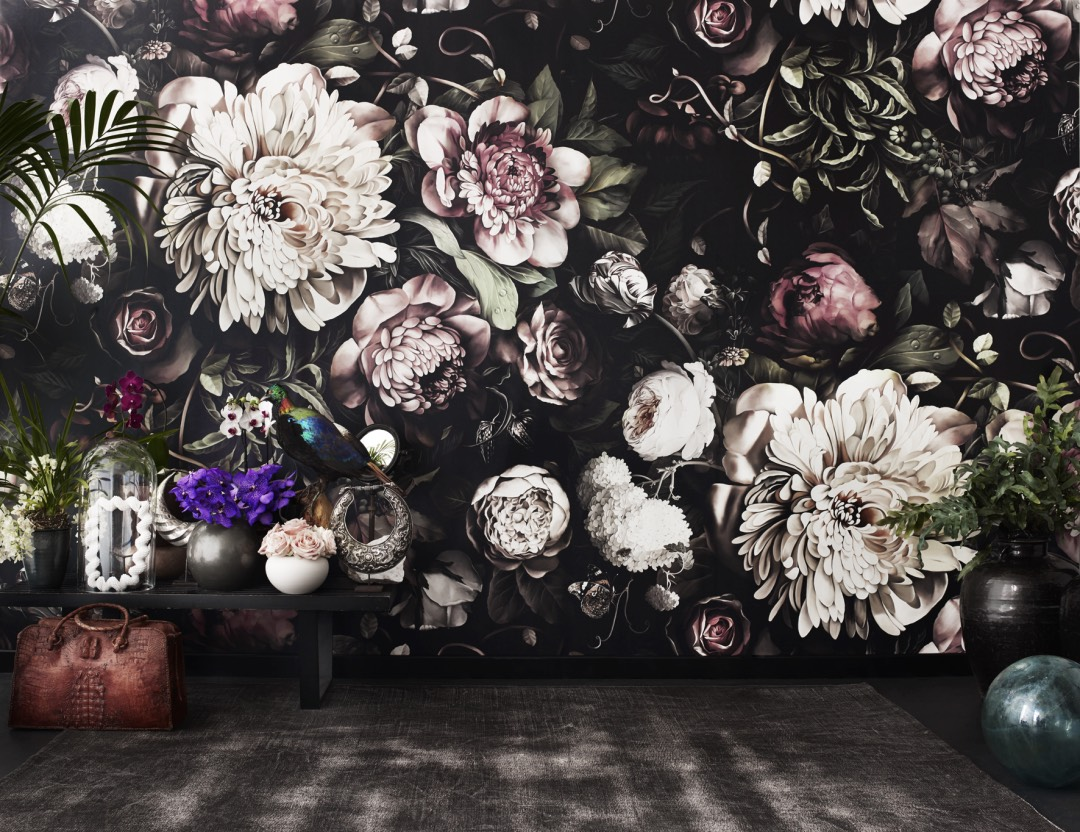 Ellie Cashman Dutch Old Master Inspired Floral Wallpaper