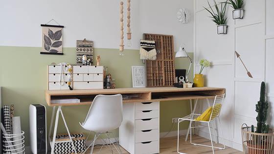 Met deze ikea hack maak je zelf een supermooi en strak bureau voor
