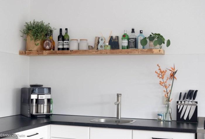 houten plank in keuken
