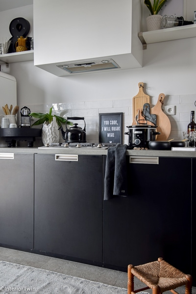 zwarte stoere keuken