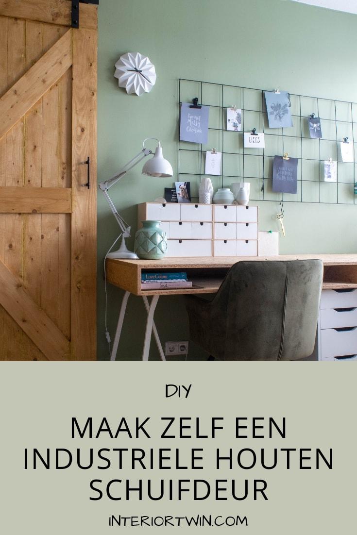 maak zelf een industriele houten schuifdeur