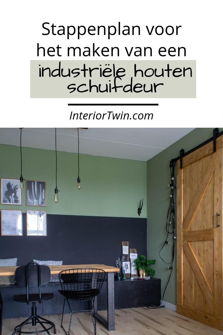 zelf een industriele houten schuifdeur maken