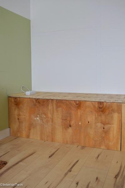 zelfgemaakte houten bank