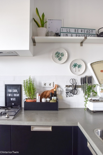 plant box ferm living small zwart