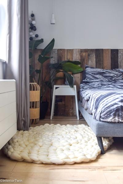 vloerkleed van lontwol maken slaapkamer
