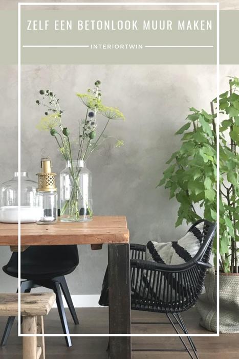 zelf een betonlook muur maken inspiratie en tips woonkamer, eetkamer, keuken, slaapkamer, badkamer
