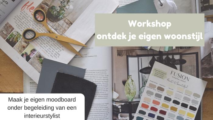 Workshop ontdek je eigen woonstijl-noodboard-maken