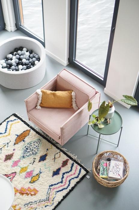 boho interieur roze