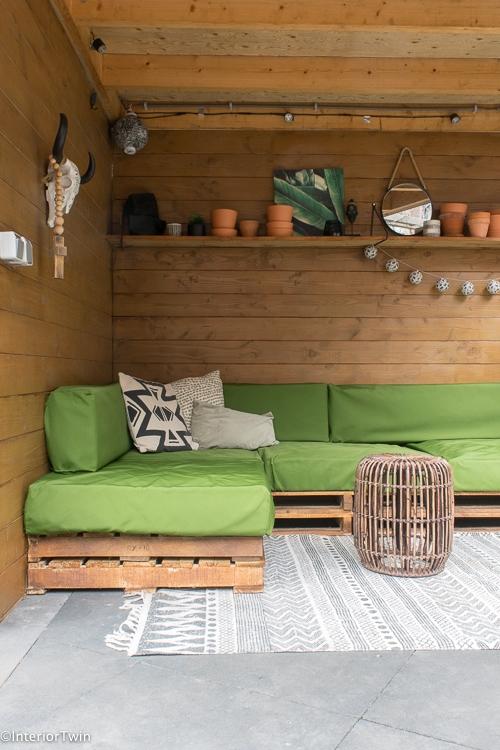 groene loungekussens