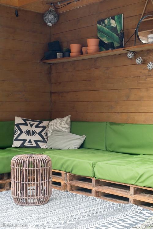 loungehoek tuin retro industrieel_