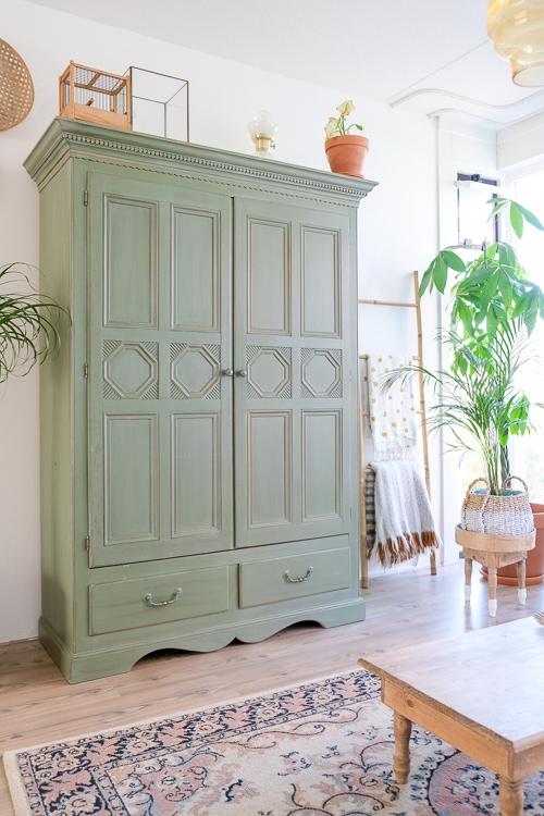 groene kast vintage interieur @mirjam_hart