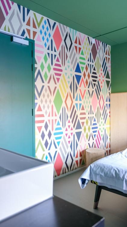 kleurrijke behang