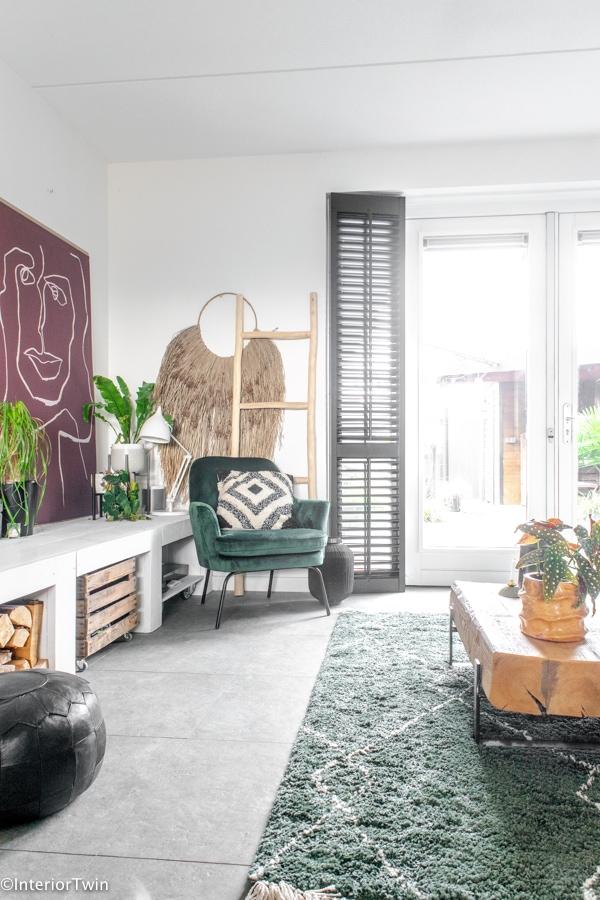 groen vloerkleed groene stoel 2