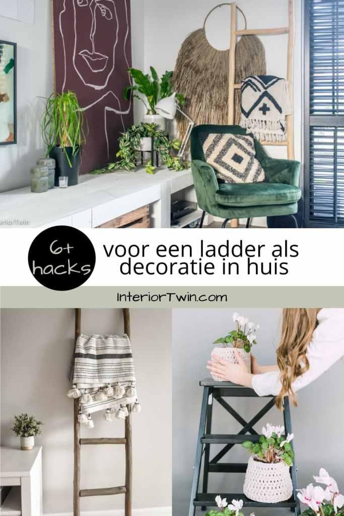 ladder als decoratie in huis