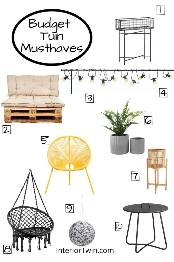 budget tuin musthaves