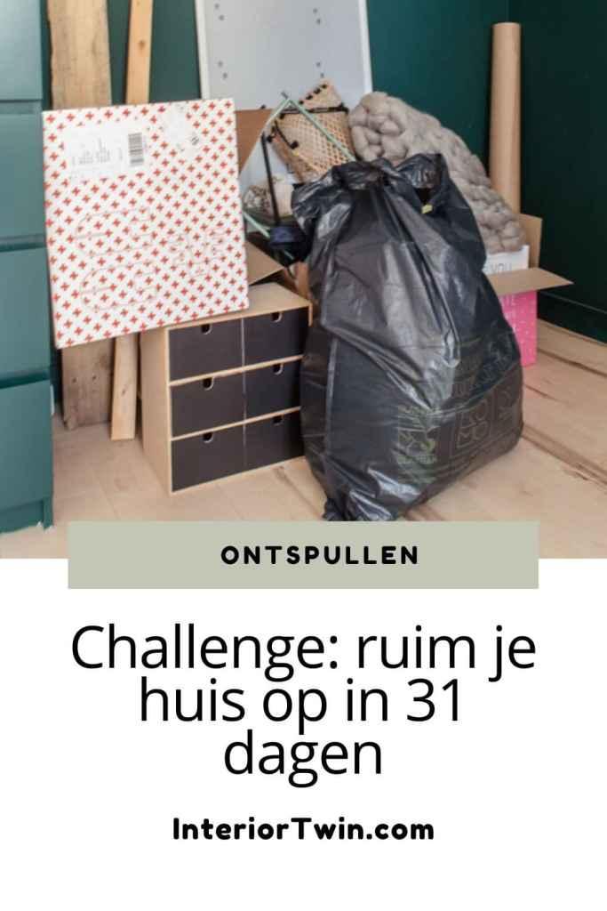 ontspullen challenge ruim je huis op in 31 dagen