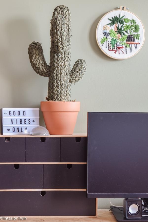 borduurpatroon cactus urban jungle planten