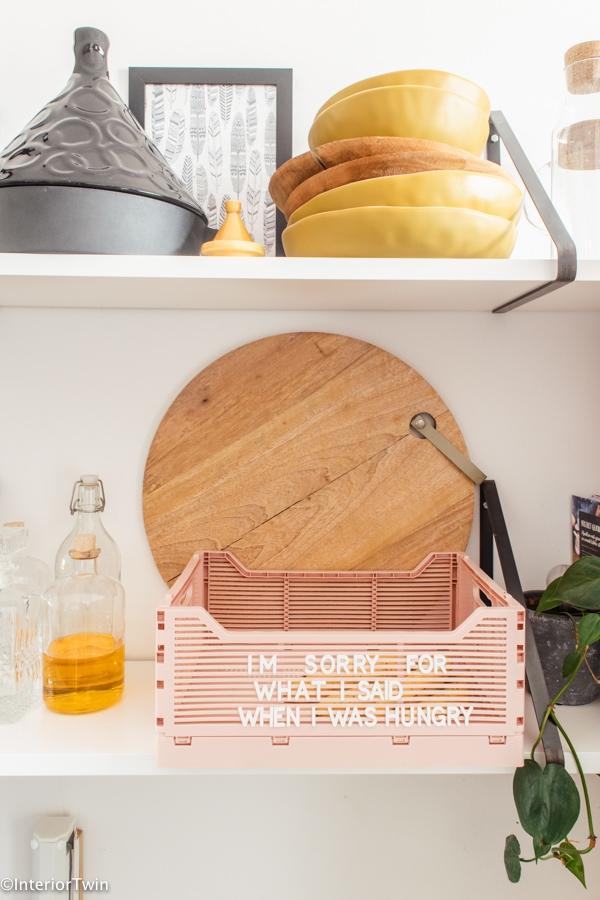 hema kratjes met quotes en letterteksten keuken detail