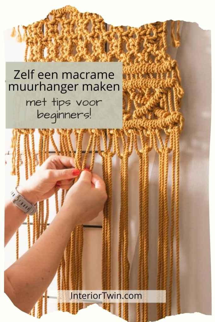 macrame wandkleed maken voor beginners