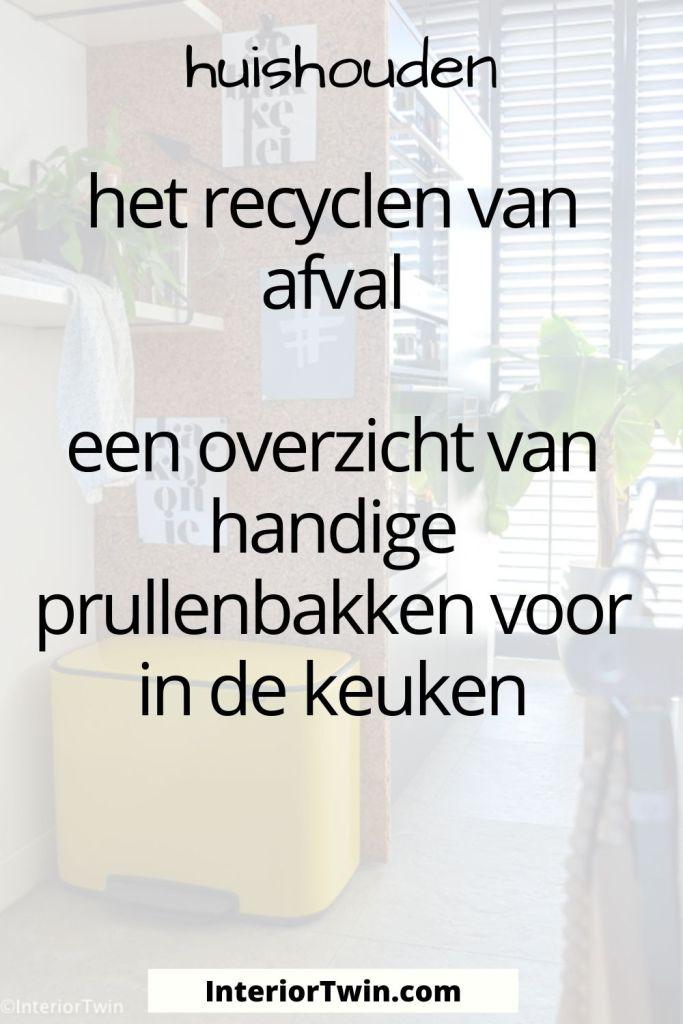recyclen afval pedaalemmers