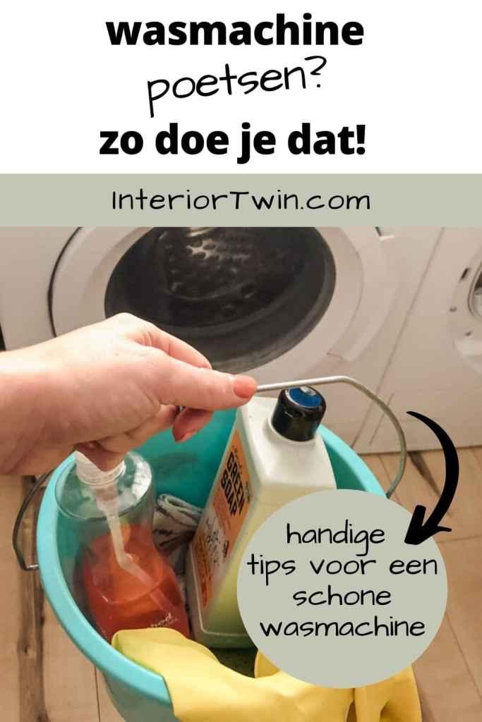 wasmachine poetsen zo doe je dat