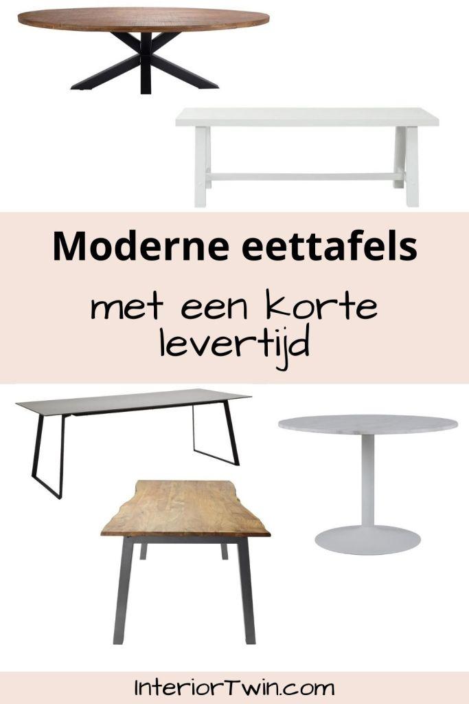 moderne eettafels korte levertijd