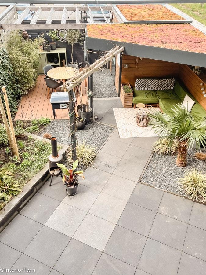 tuin bovenaf sedum groendak ervaringen review