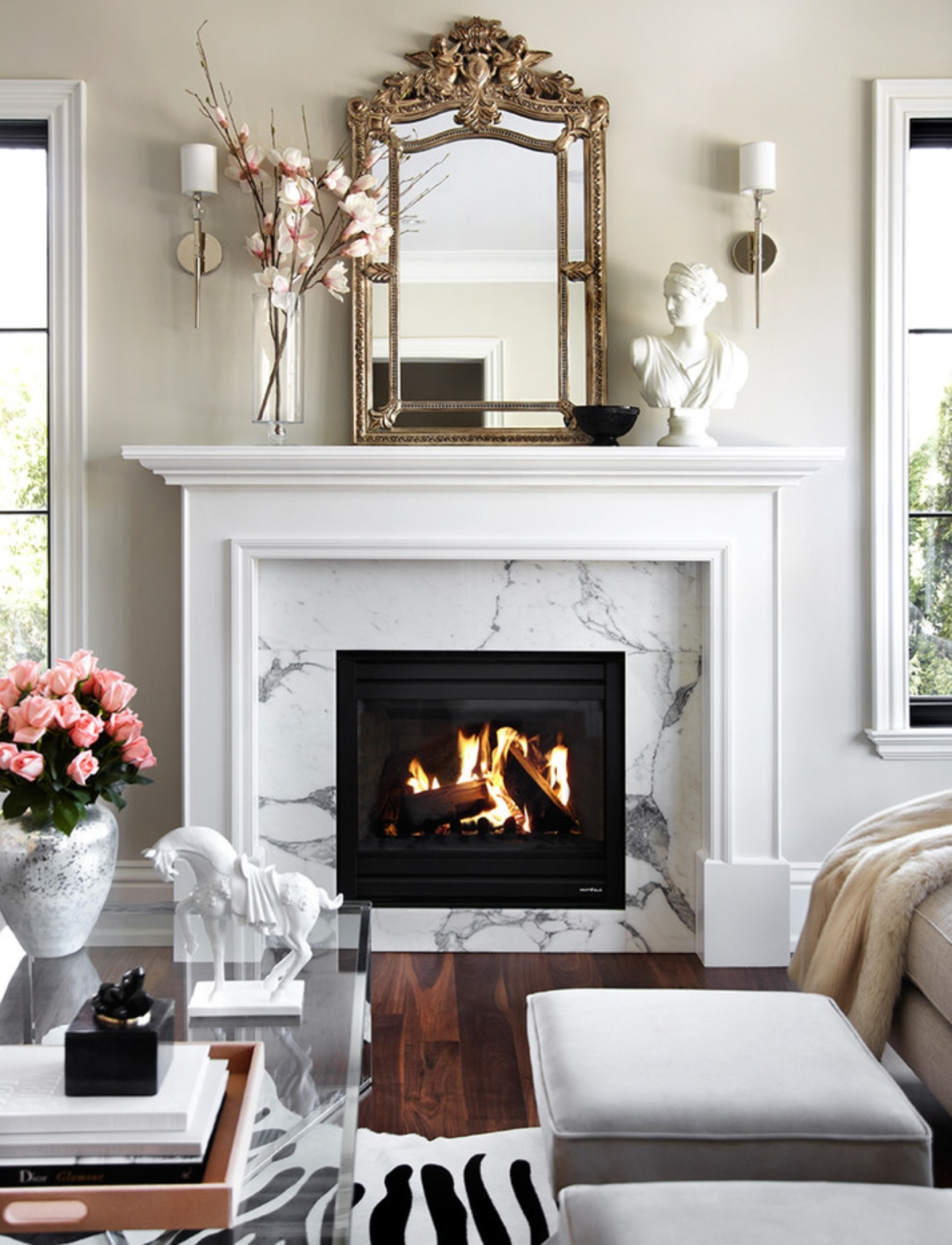 40 Beautiful Living Room Designs With Fireplace