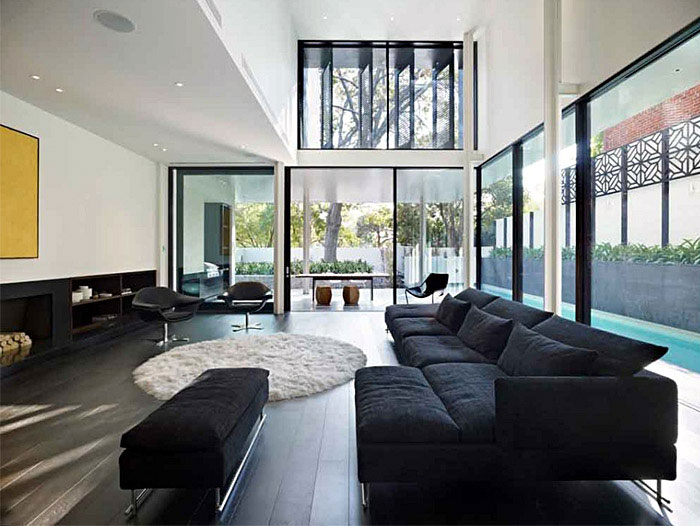 A Luxurious Contemporary Family Home calm space interior1