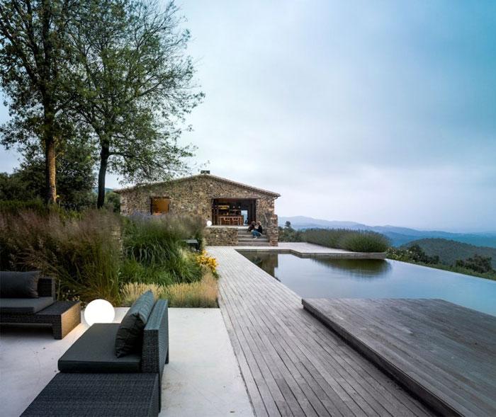 Restored Stone Farmhouse With Pool InteriorZine