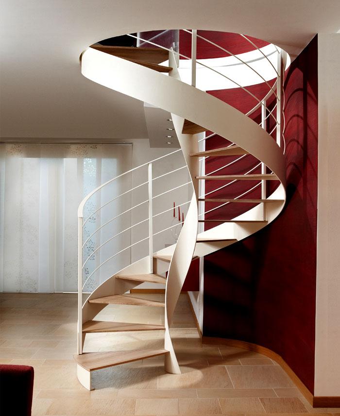 Steel Spiral Staircase By Rizzi Interiorzine