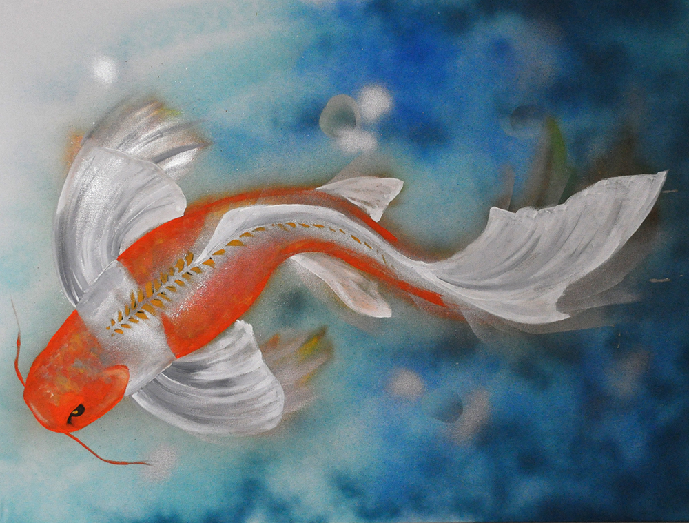 fish colored pencil watercolor keena wolff las cruces artist