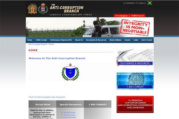 Website design Anti Corruption Branch (ACB) by interlincWORLD
