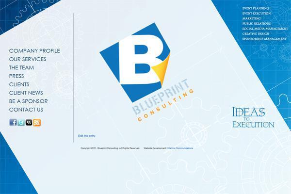 Blueprint Consulting Jamaica web design by Interlinc
