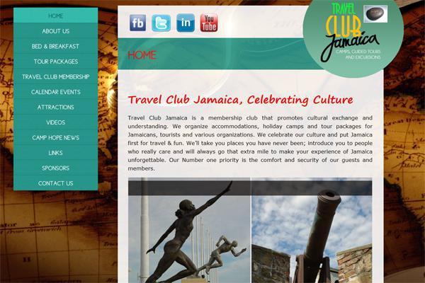 Travel Club Jamaica website development by Interlinc Communications