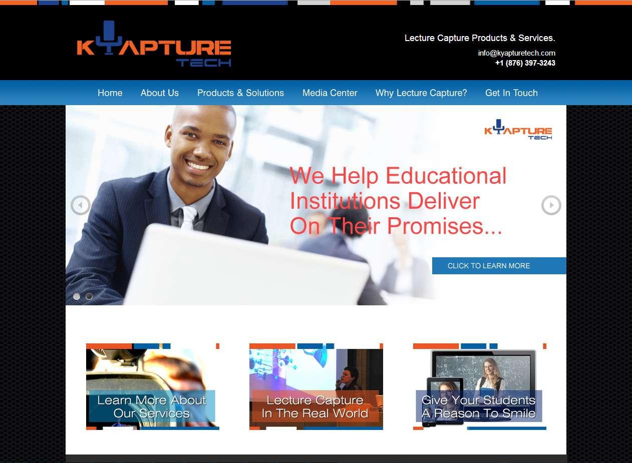 Kyapture Tech website design