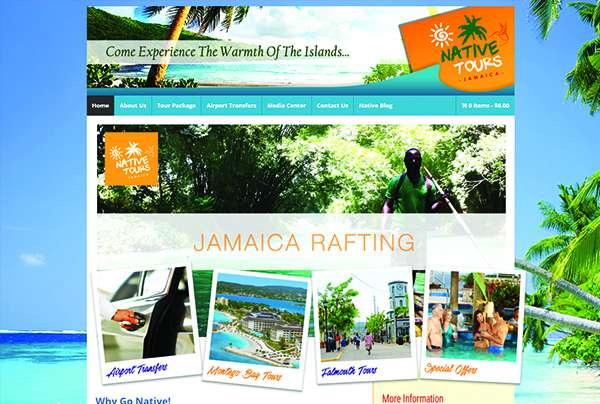 Website for Native Tours Jamaica